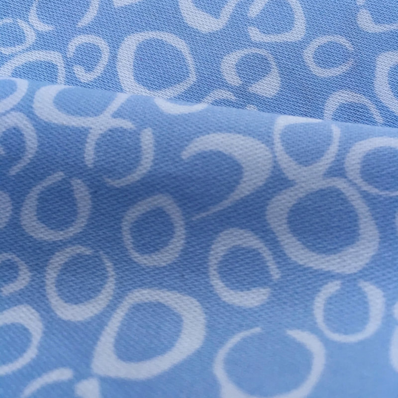 Mornind Dew blue and white organic cotton sateen